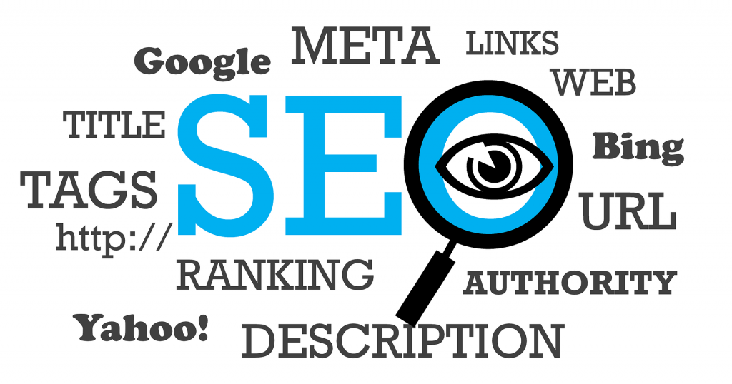 mots clés du seo : ranking, description, meta, links, url, tags, title