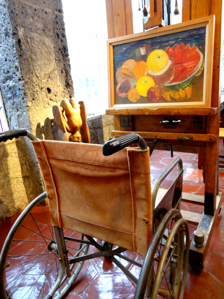 Wheelchair in Frida Kahlo's Blue House in Coyoacan